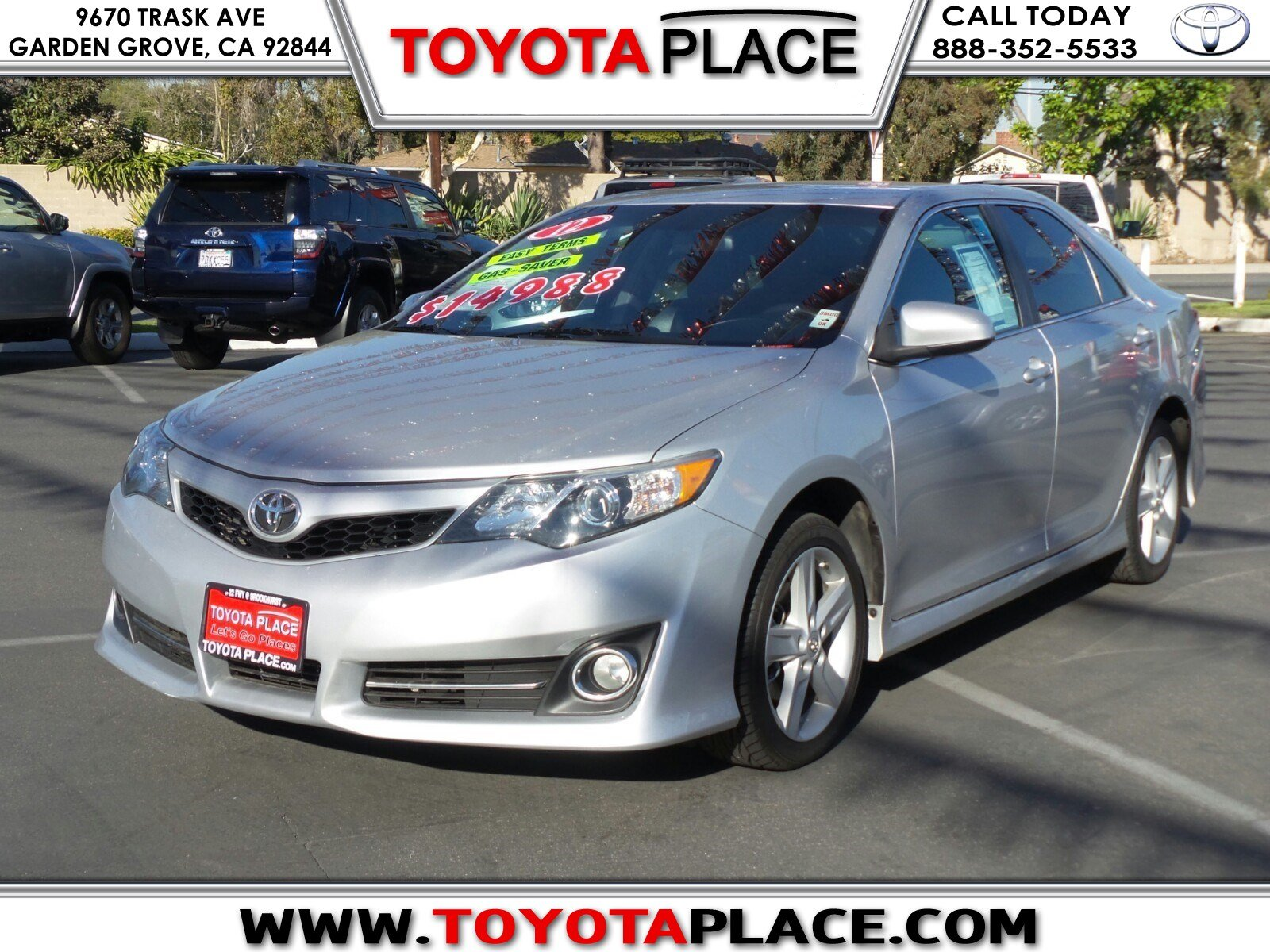 pre owned 2012 toyota camry se 4dr car in garden grove p140979 toyota place. Black Bedroom Furniture Sets. Home Design Ideas